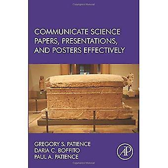 Comunicarse a carteles, presentaciones y documentos de ciencia