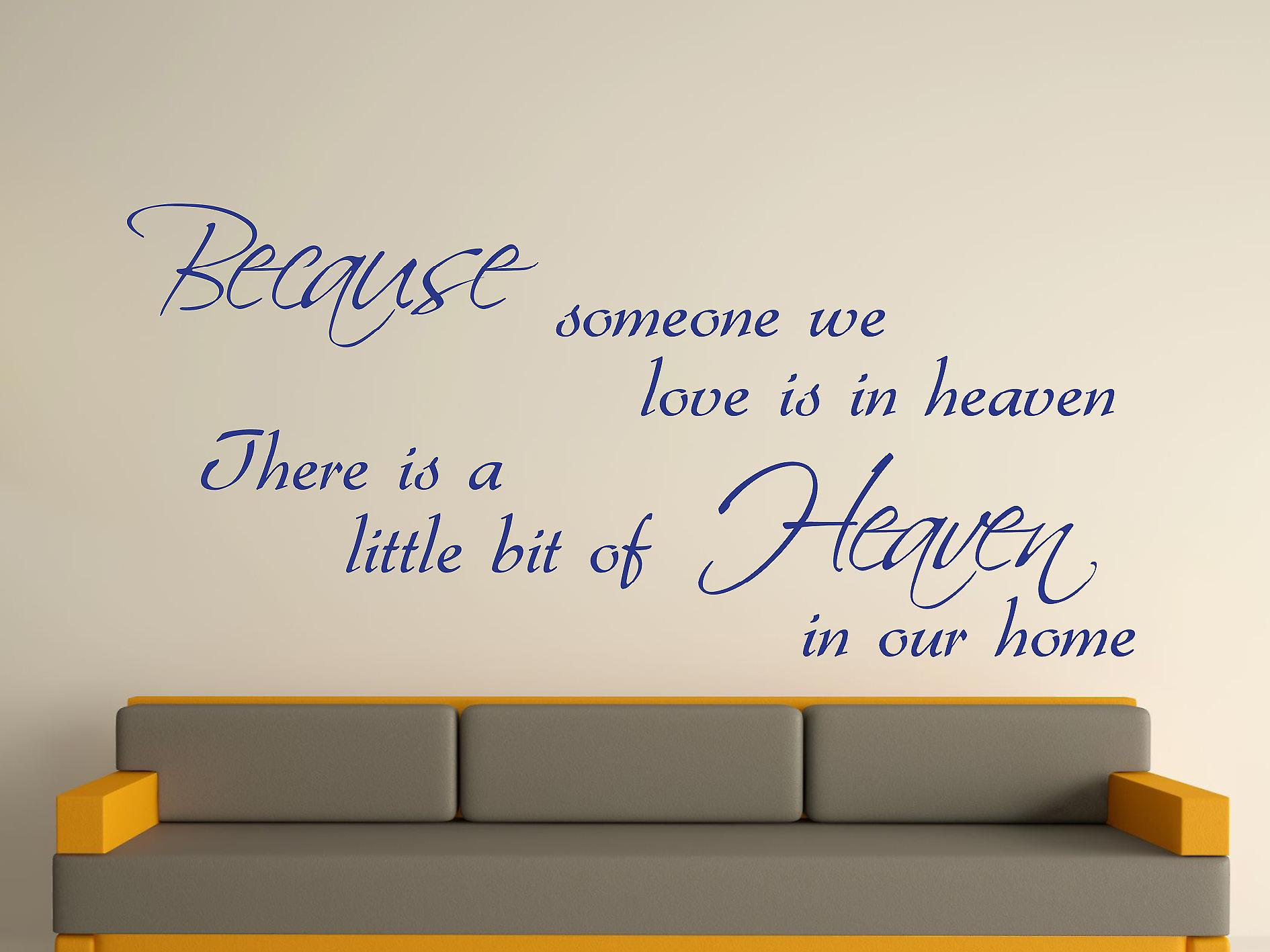 Because Someone Wall Art Sticker - Dark Blue