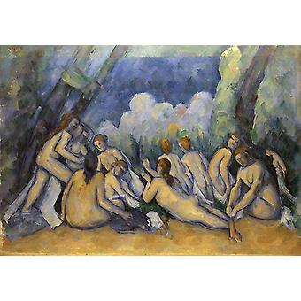 Les grandes Baigneuses,Paul Cezanne,60x42cm