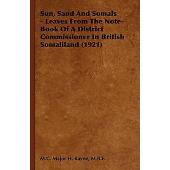 Soleil plage et Somals laisse de l'ordinateur portable d'un commissaire de District du Somaliland britannique 1921 par Major H. Rayne & M.B.E. & M.C.