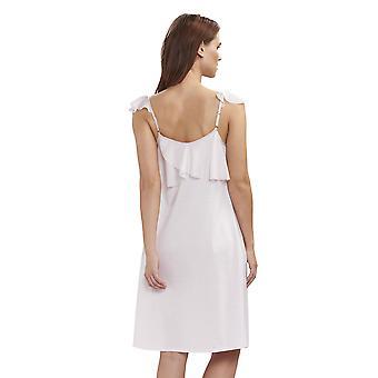 Feraud 3191283-11577 Women's Couture New Rose White Cotton Night Gown Loungewear Nightdress