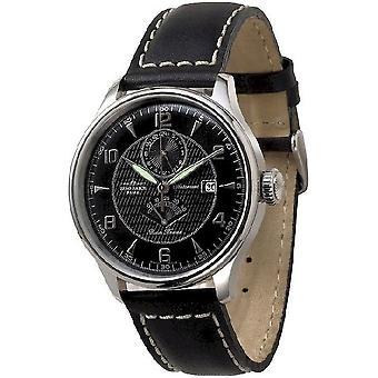 Zeno-watch mens watch Godat II + power reserve 6273GMTPR-g1