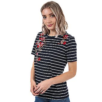 Womens Only Mona Striped T-Shirt In Night Sky