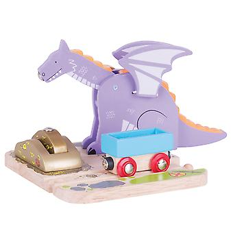 Bigjigs Rail Wooden Dragon Crane Train Track Accessories Play Set