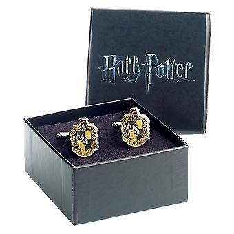 Harry Potter Huffelpuf Crest verzilverd Manchetknopen
