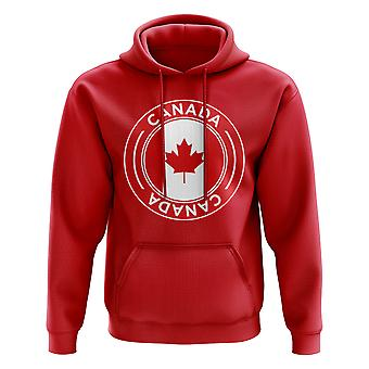 Canada Football Badge Hoodie (Red)