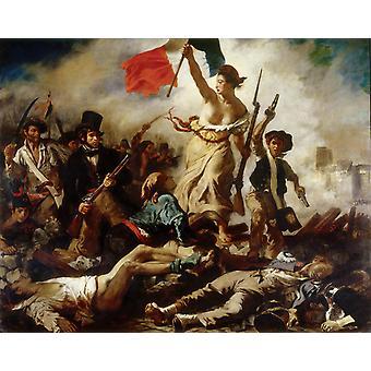 Liberty Leading the People, Eugene Delacroix, 50x40cm