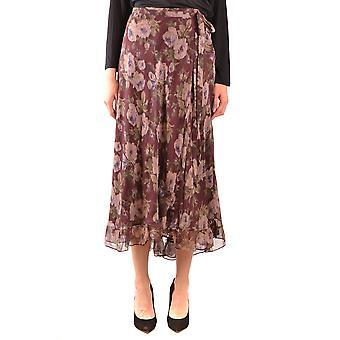 Ralph Lauren Burgundy Polyester Skirt