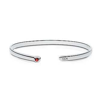 University Of Central Missouri - Ucm Engraved Ruby Cuff Bracelet