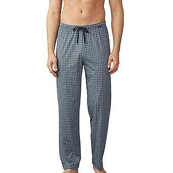 Mey mannen 19060-188 heren Lounge Ciel blauwe tegel afdrukken katoen pyjama Pyjama's broek