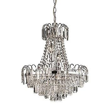Endon 96826-CH Amadis 6 Light Chrome Finish & Glass Chandelier