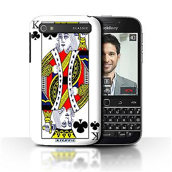 STUFF4 Case/Cover for Blackberry Classic/Q20/King of Clubs/Playing Cards