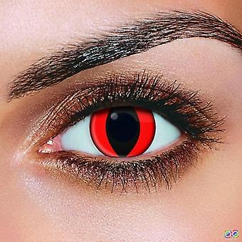 Red Cat Eye Contact Lenses (pair)