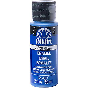 FolkArt Enamel Paint 2oz-True Blue 40-2841