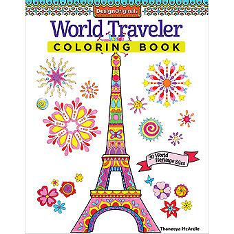 Design Originals-World Traveler Coloring Book DO-5495