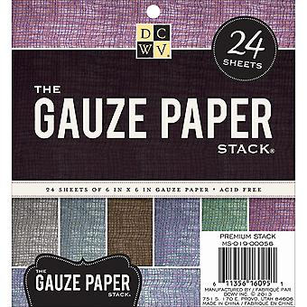 Gauze Covered Cardstock Paper Stack 6