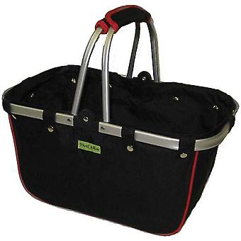 Janetbasket Black Red Large Aluminum Frame Basket 18