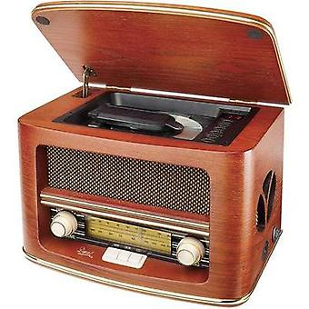 FM Table top radio Dual NR 1 CD AUX, CD, AM, FM Wood
