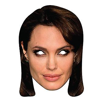 Angelina Jolie Celebrity Card Party Face Mask