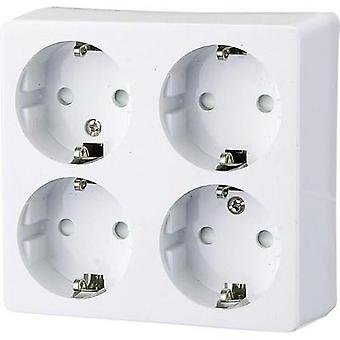 4 x Surface-mount socket Child safety Polar whit