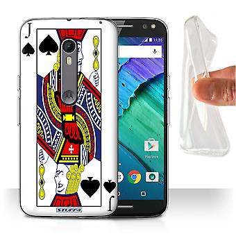 STUFF4 Gel/TPU Case/Cover for Motorola Moto X Style/Jack of Spades/Playing Cards