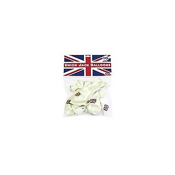 Union Jack Flag Latex Balloons - Pack of 100