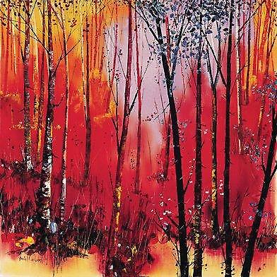 Daniel Campbell print - Birch and Reds