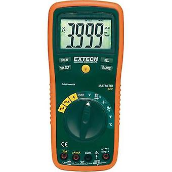 Handheld multimeter digital Extech EX420 Calibrated to: Manufacturer standards CAT III 600 V Display (counts): 4000