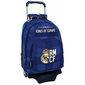 Real Madrid Mochila 560 Con Carro 905 Real Madrid Blue (Toys , School Zone , Backpacks)