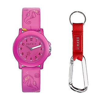 ESPRIT kids watch gift set girls ES103454012 watch + carabiner