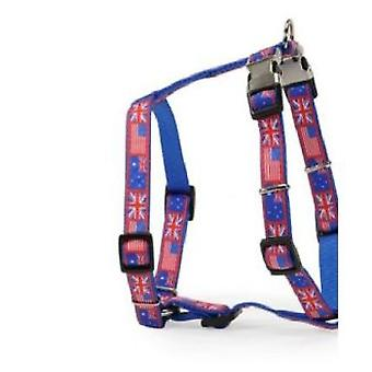 Camon Harness Double Closing Metal Flag Blue (Dogs , Walking Accessories , Harnesses)