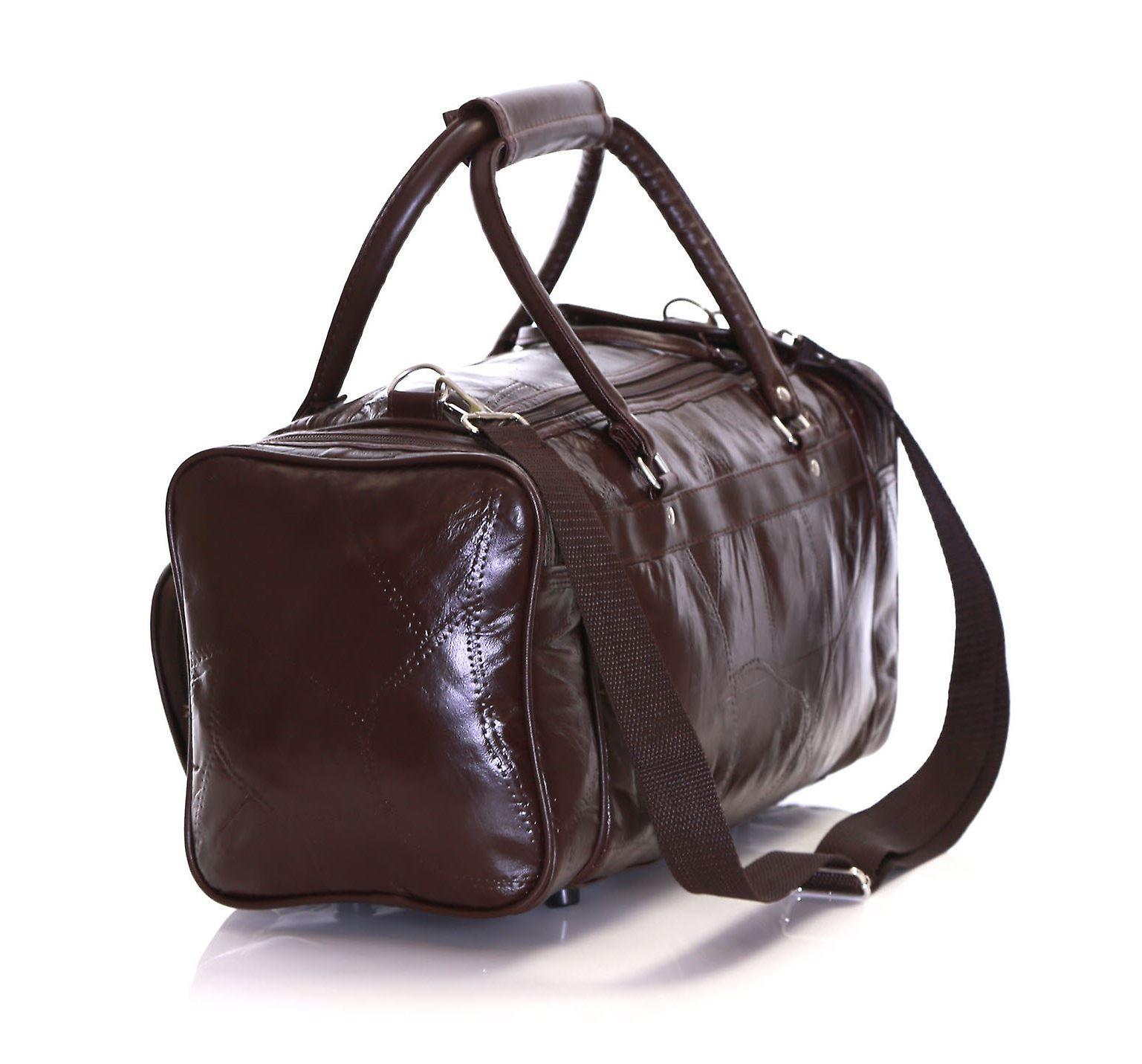 Slimbridge Blumberg Leather Travel Bag, Brown