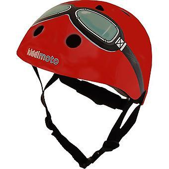 Kiddimoto casco - occhiali rossi