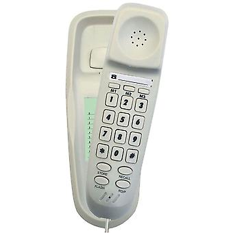 TEL UK Slim Corded Bilbao Telephone - White - Wall mountable (18008W)