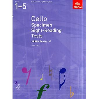 Cello Specimen Sight-Reading Tests ABRSM Grades 1-5: from 2012 (ABRSM Sight-reading) (Paperback) by Abrsm
