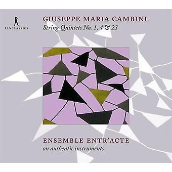 Cambini / Ensemble Entr'Acte - streng kvintetter No. 1 4 & 23 [CD] USA import