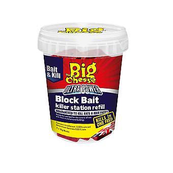 Big Cheese Ultra blok agn Killer kraftværket Refills 9 X 20g blokke (pakke med 6)