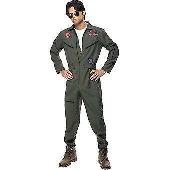Original Top Gun Kostüm Overall Topgun Pilotenkostüm Pilot Herren