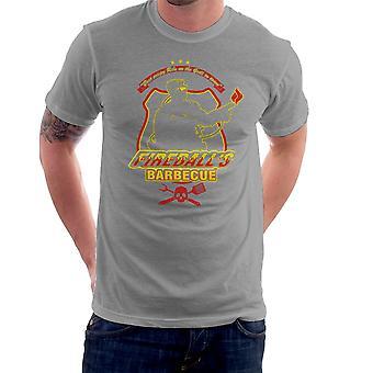 Fireballs BBQ Running Man Men's T-Shirt