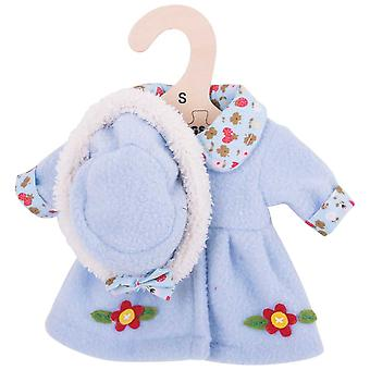 Bigjigs Toys Blue, Flowery Rag Doll Coat and Hat for 28cm Soft Doll
