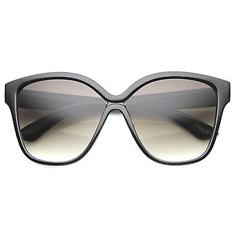 Womens Oversized zonnebrillen met Gradient Lens UV400 beschermd