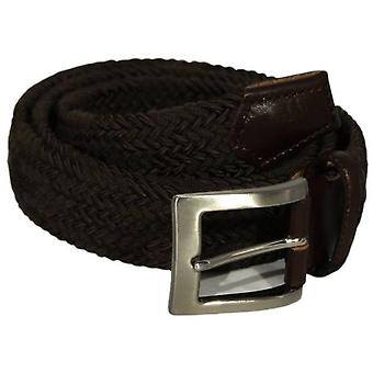 40 Colori Double Threaded Elasticated Belt - Brown