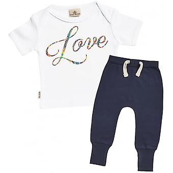 Spoilt Rotten Love T-Shirt & Navy Joggers Outfit Set
