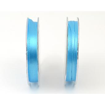 10mm Polyester Satin Craft Ribbon - 10m Reel - Turquoise