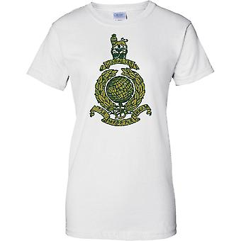 Royal Marines Commando Globe e Laurel - effetto verde - Ladies T Shirt