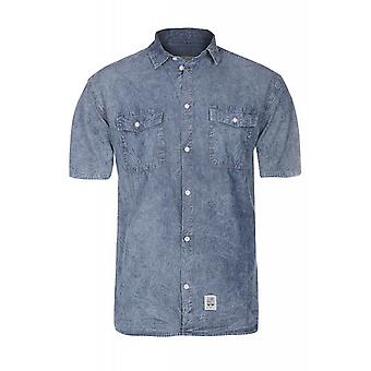 JUNK YARD Skjorta Hugo shirt men's leisure shirt Blau Kent collar