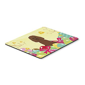 Easter Eggs Irish Water Spaniel Mouse Pad, Hot Pad or Trivet