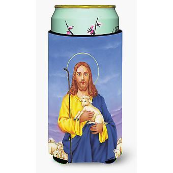 Jesus The Good Shepherd holding a lamb Tall Boy Beverage Insulator Hugger