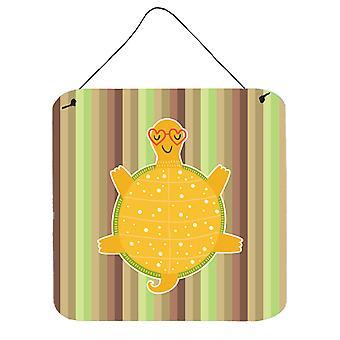 Carolines skarby BB6780DS66 żółwia ściany lub drzwi wiszące drukuje
