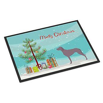 Carolines Treasures  BB8442JMAT Weimaraner Christmas Indoor or Outdoor Mat 24x36